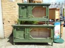 Deluxe Rabbit Hutch Green